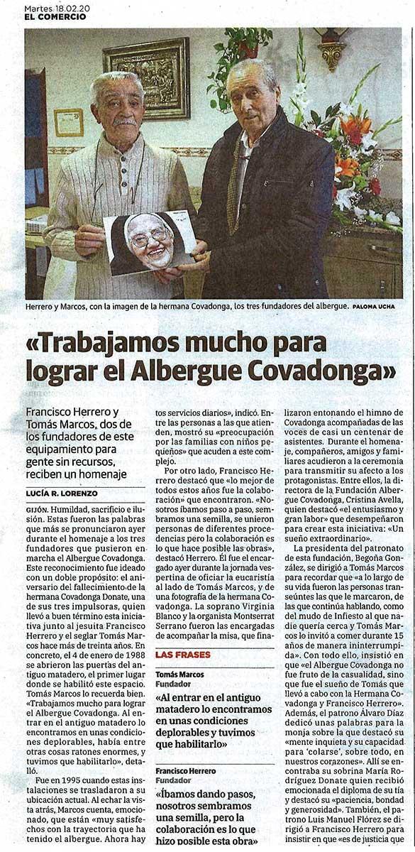 Recorte del la noticia en el diario El Comercio