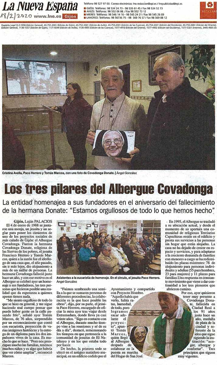 Recorte de prensa de La Nueva España